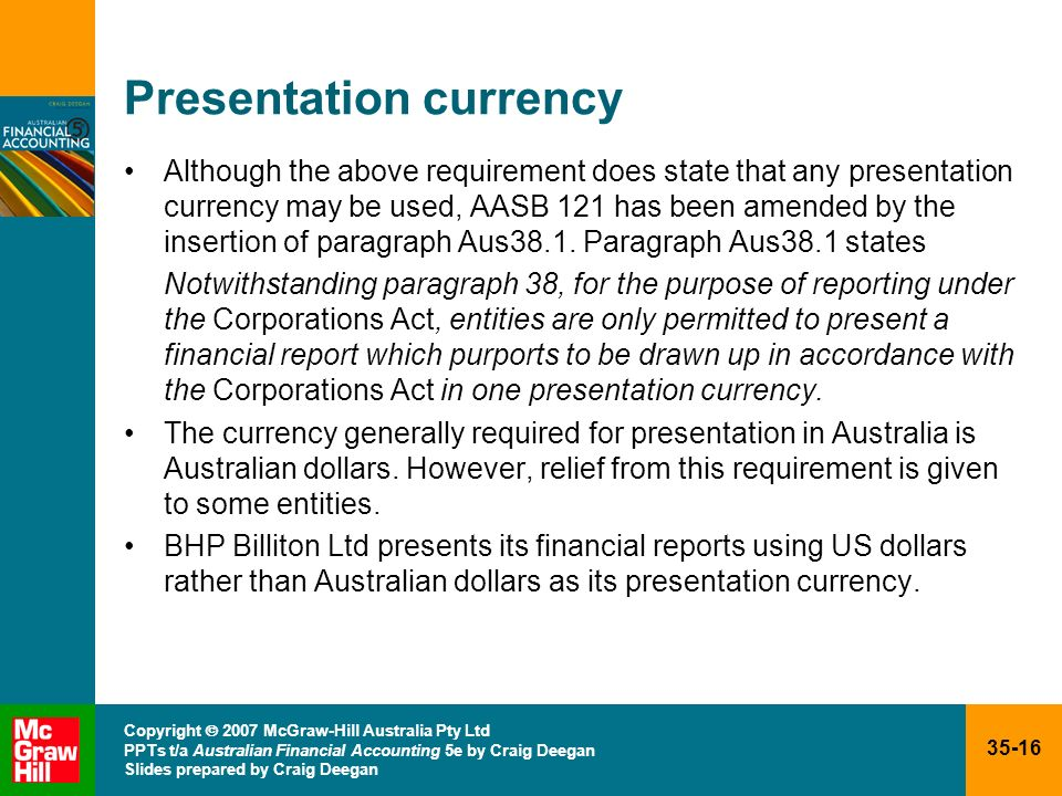 Presentation currency
