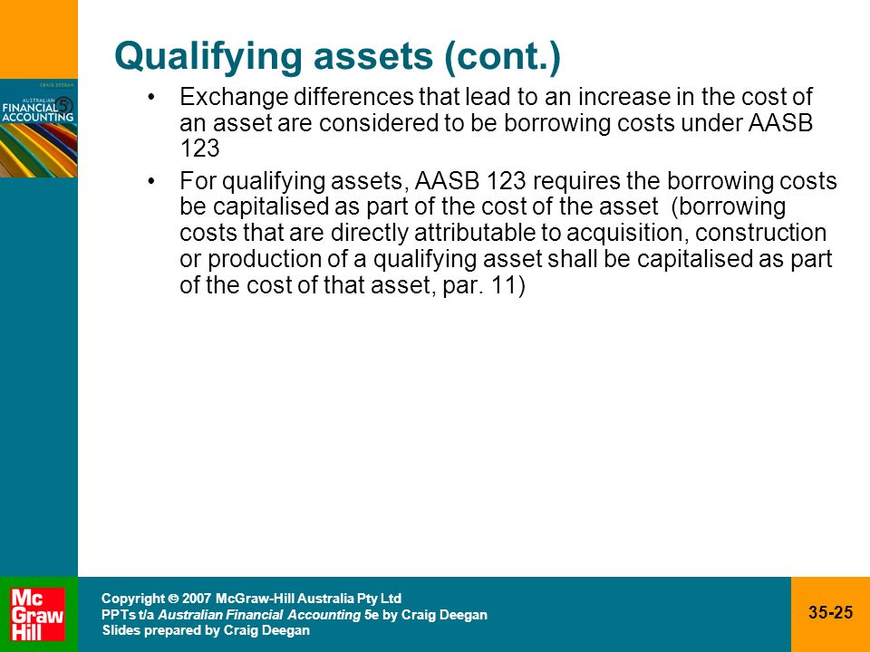 Qualifying assets (cont.)