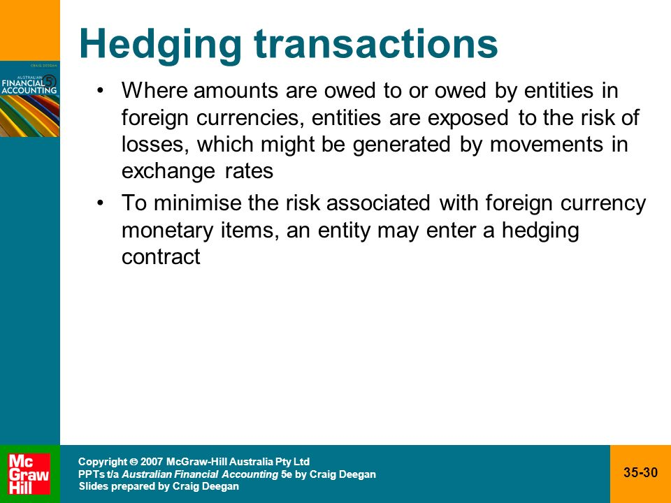 Hedging transactions