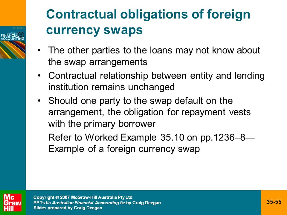 Contractual obligations of foreign currency swaps
