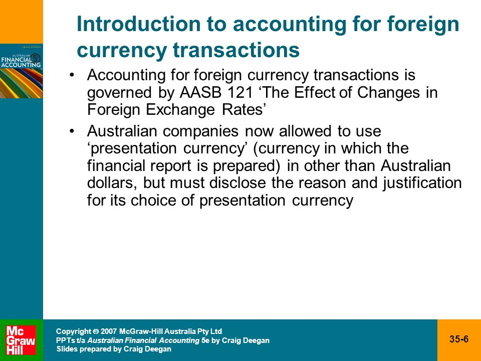 Introduction to accounting for foreign currency transactions