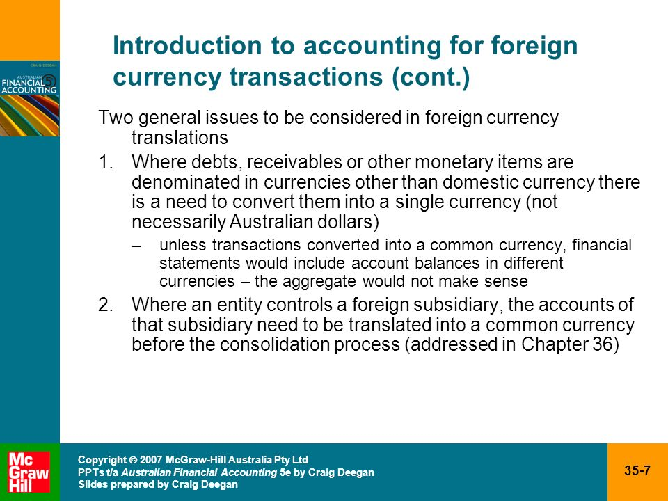 Introduction to accounting for foreign currency transactions (cont.)