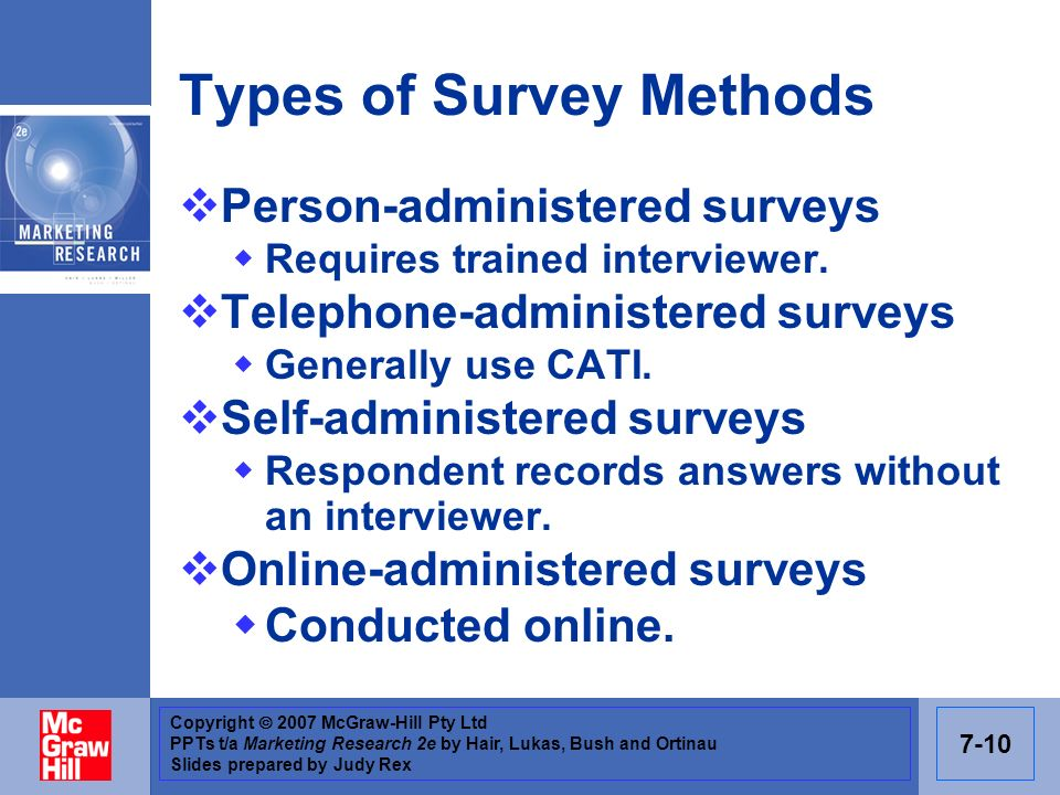 Types of Survey Methods