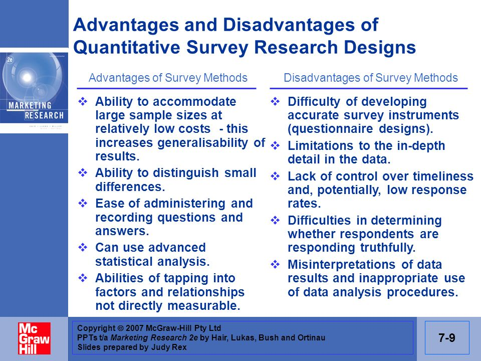 Advantages and Disadvantages of Quantitative Survey Research Designs