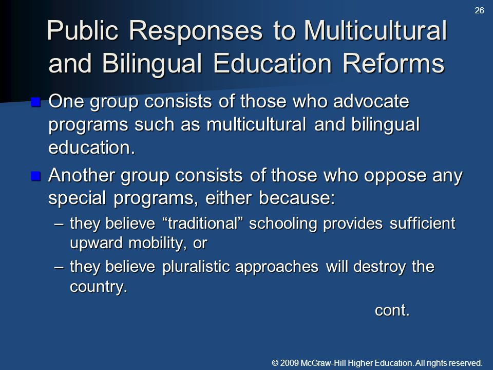 Public Responses to Multicultural and Bilingual Education Reforms
