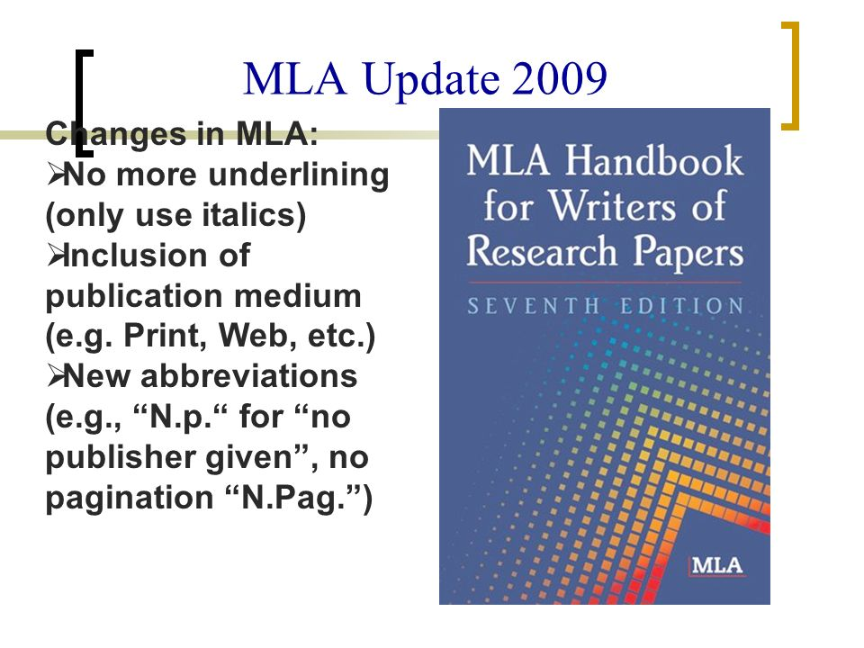 mla citation style mla handbook for writers of research papers 6th edition All information is taken from the 7th edition of the mla handbook for writers of research papers, published in 2009 the basics formatting a research paper may not seem like a big deal, but to the teachers, professors, and publishers who read dozens or even hundreds of student papers, issues like spacing and margins can be very important.