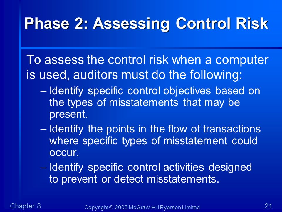 Phase 2: Assessing Control Risk