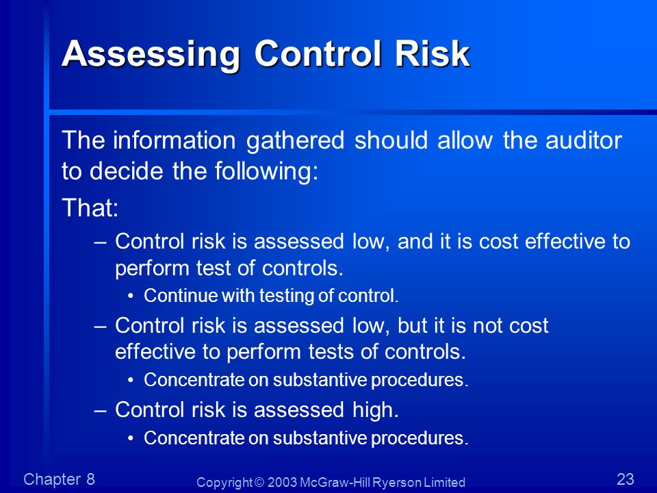 Assessing Control Risk