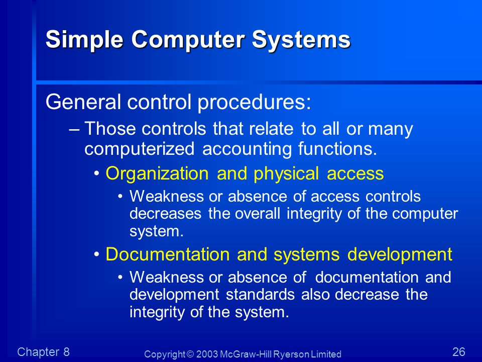 Simple Computer Systems
