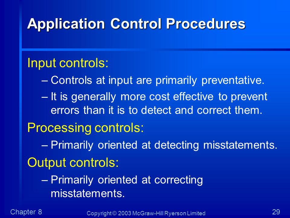 Application Control Procedures