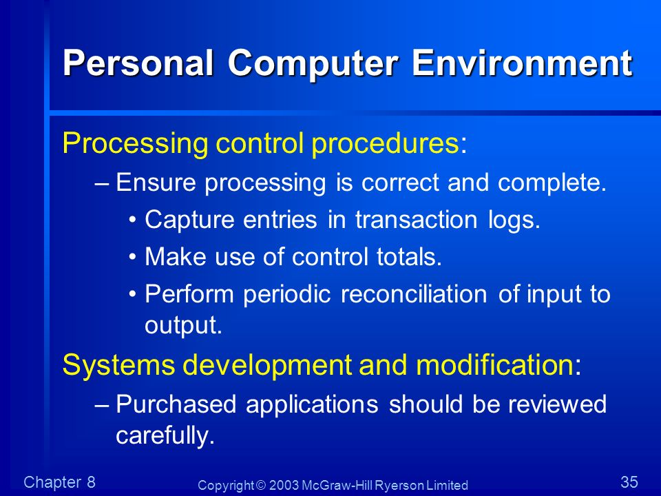 Personal Computer Environment