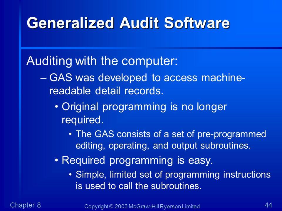 Generalized Audit Software