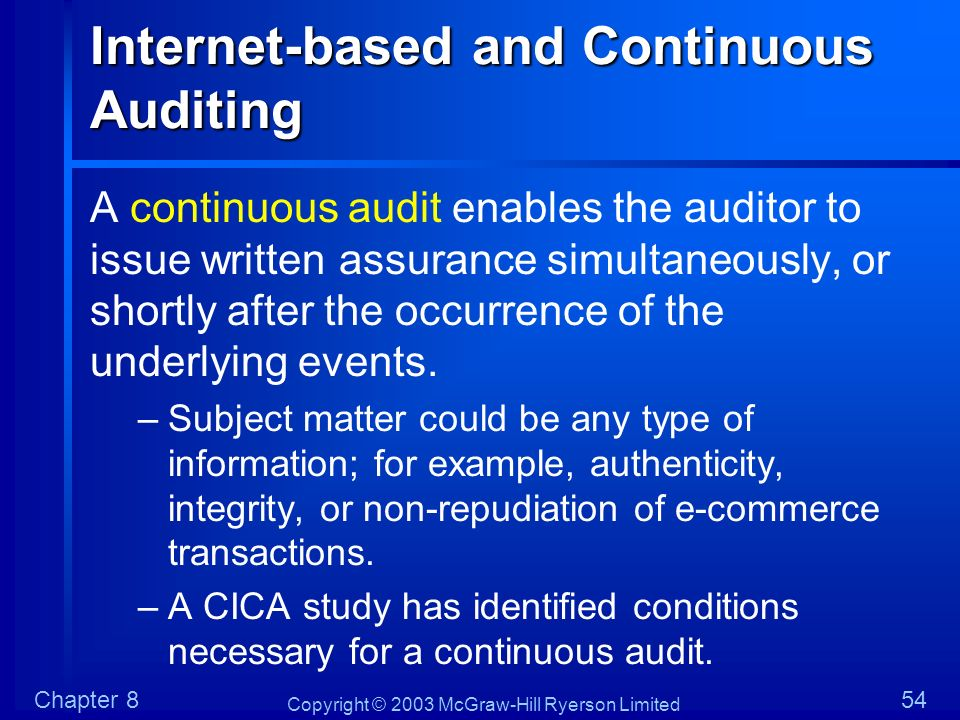 Internet-based and Continuous Auditing