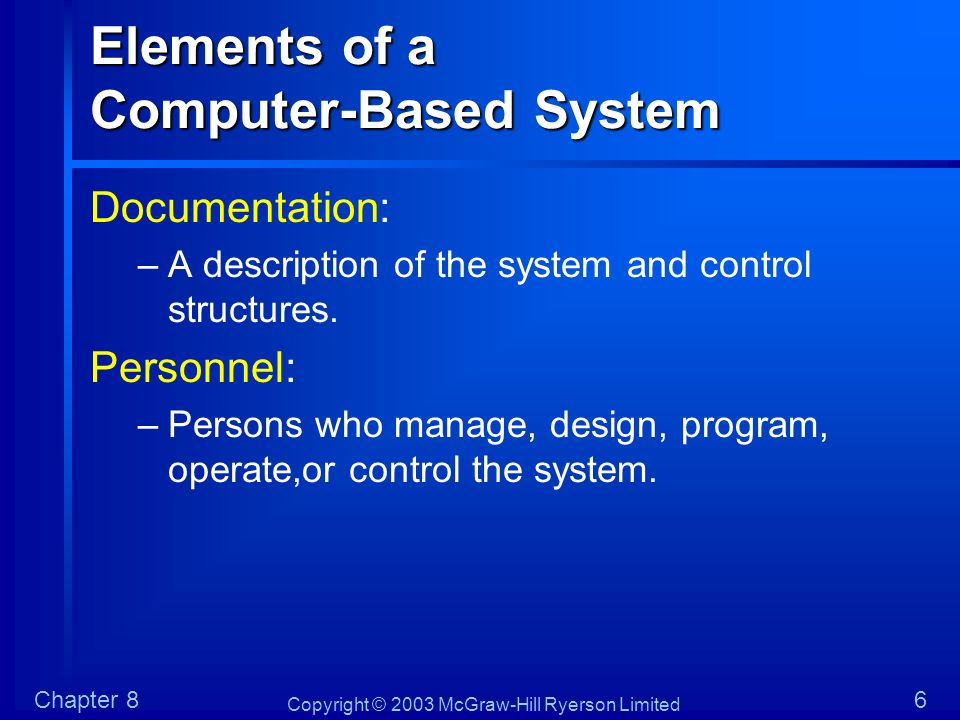 Elements of a Computer-Based System