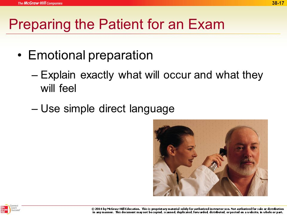 Preparing the Patient for an Exam