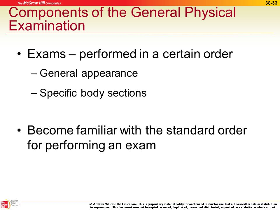 Components of the General Physical Examination