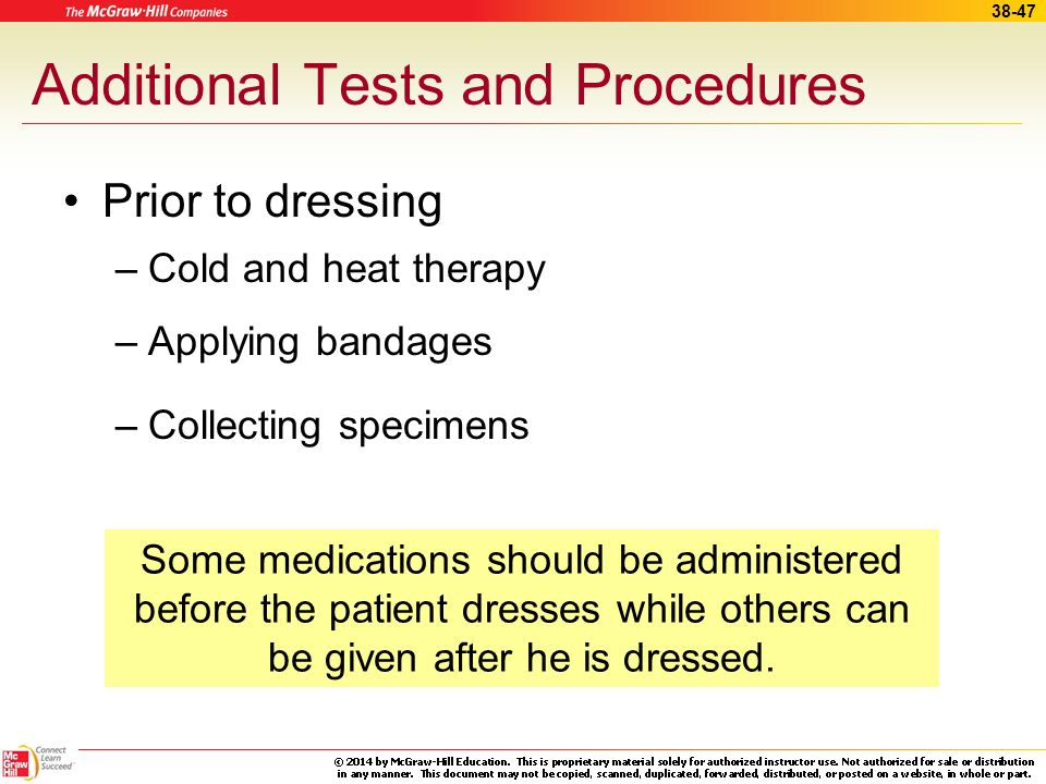 Additional Tests and Procedures