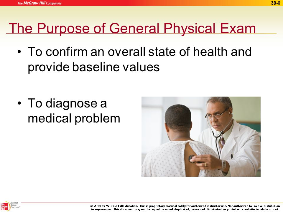 The Purpose of General Physical Exam