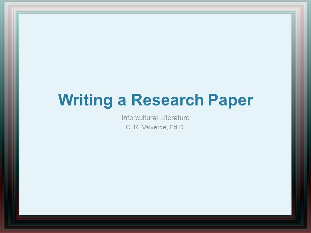 writing research papers on literature How to write a research paper making an outline writing your paper sample research papers and outlines analyzing a famous work of literature.