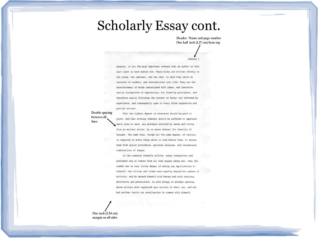 writing a scholarly essay Rowena murray offers her top tips for how to start writing that paper photograph:   will this determine which journals you write for have you.