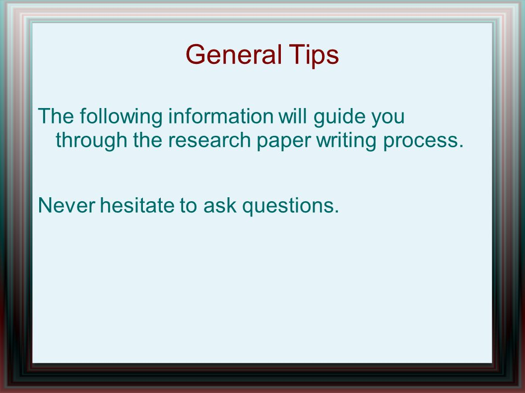 questions to ask when writing a research paper Developing a research question  and to ask the writing tutor for feedback on your research question and you also should check your research question with your course tutor topic/issue a topic is what the essay or research paper is about it provides a focus for the writing of course, the major topic can be broken down into its.