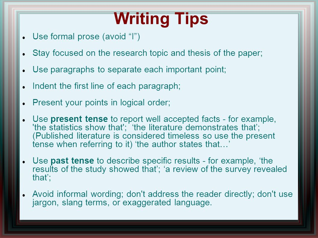 thesis introduction tense Introduction the use of simple present tense often confuses students,  especially when simple present tense is used in descriptive writing  artin  feriana arjati (2006) wrote a thesis entitled, an error analysis on the use of  gerund, and.