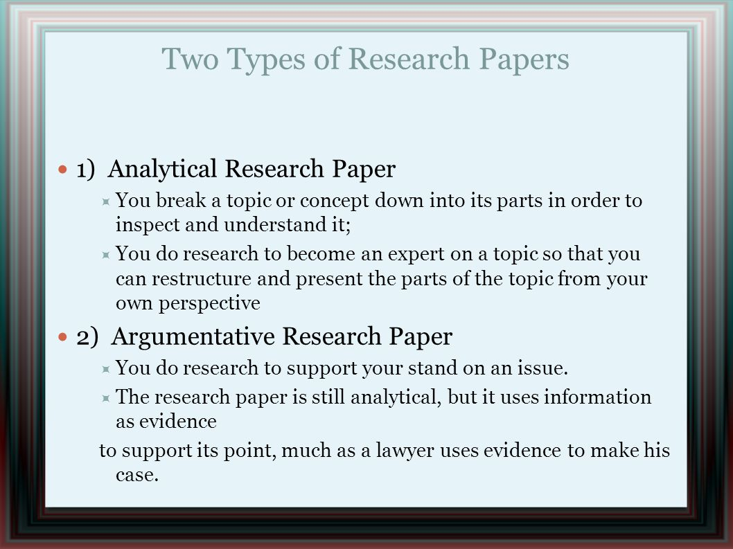 types of a research paper