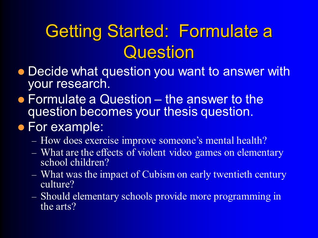 how to formulate a research topic pdf