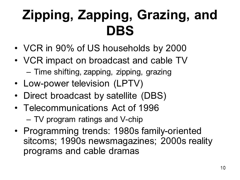 Zipping, Zapping, Grazing, and DBS