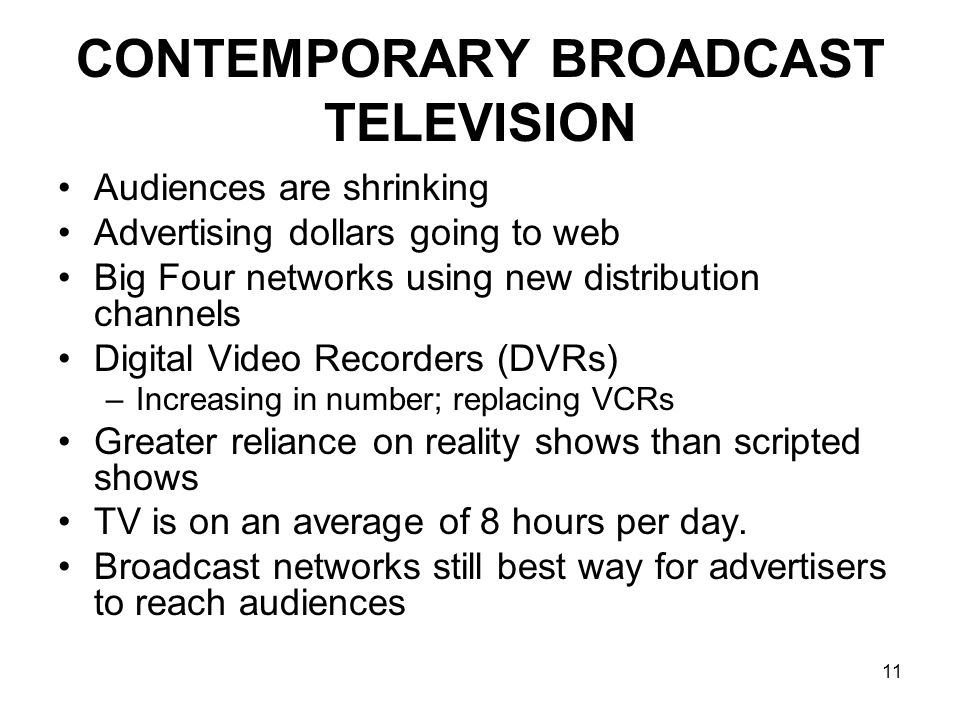 CONTEMPORARY BROADCAST TELEVISION