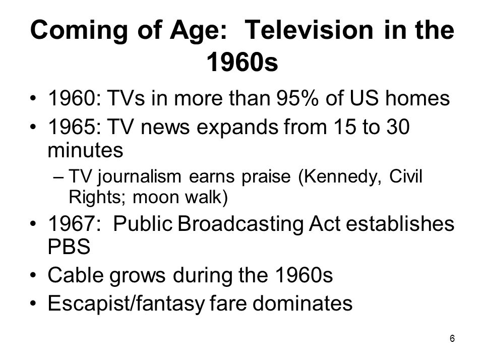 Coming of Age: Television in the 1960s