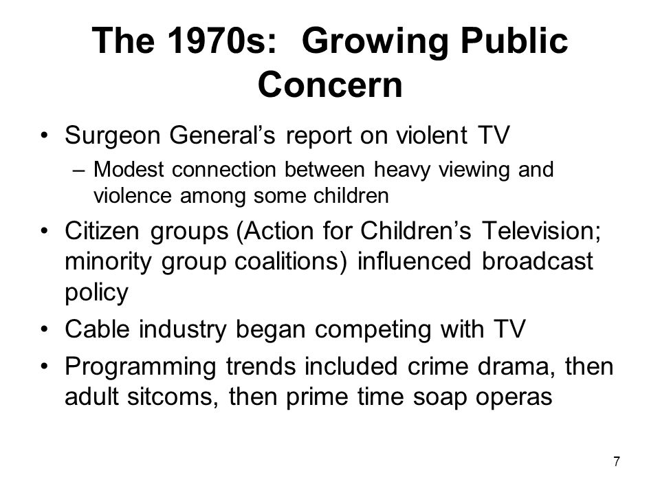 The 1970s: Growing Public Concern