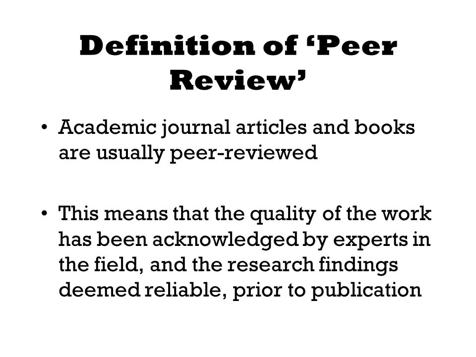 peer reviewed articles definition