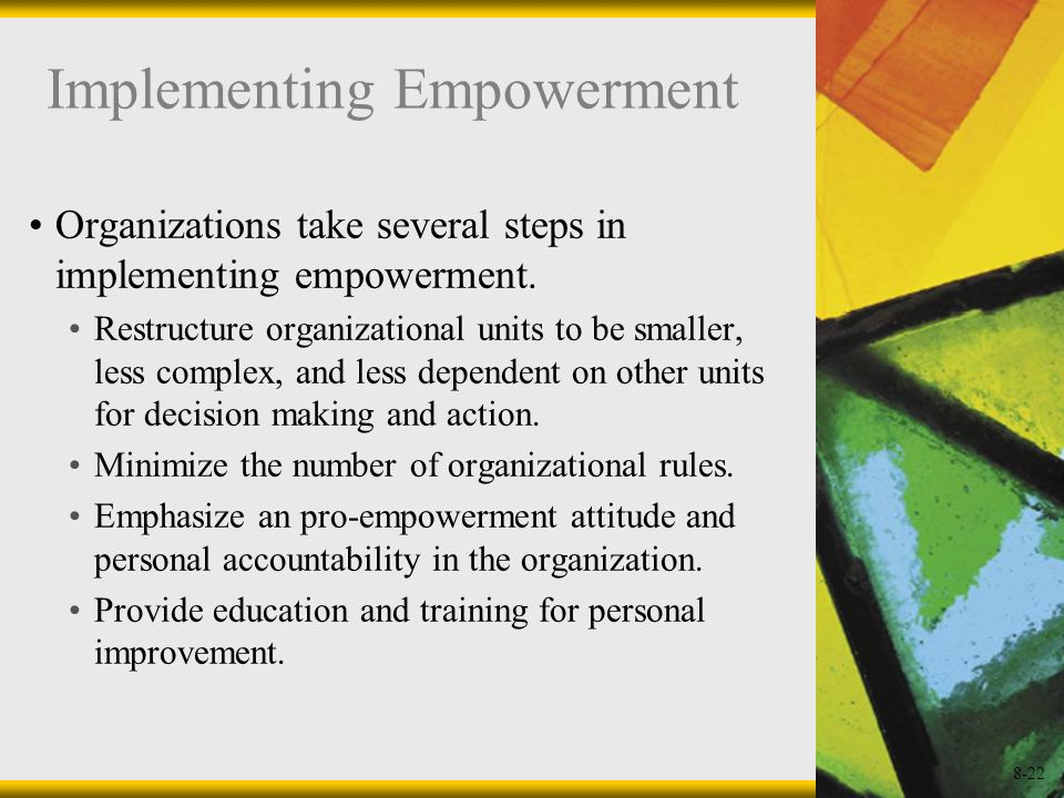 Implementing Empowerment