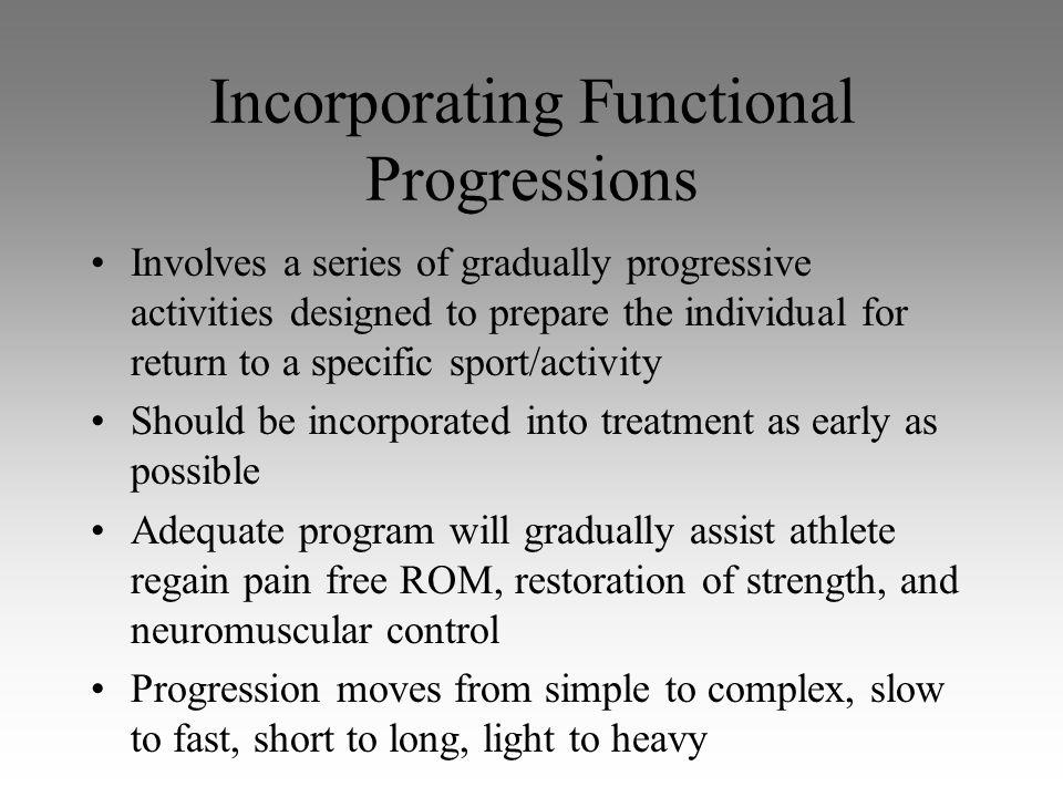 Incorporating Functional Progressions