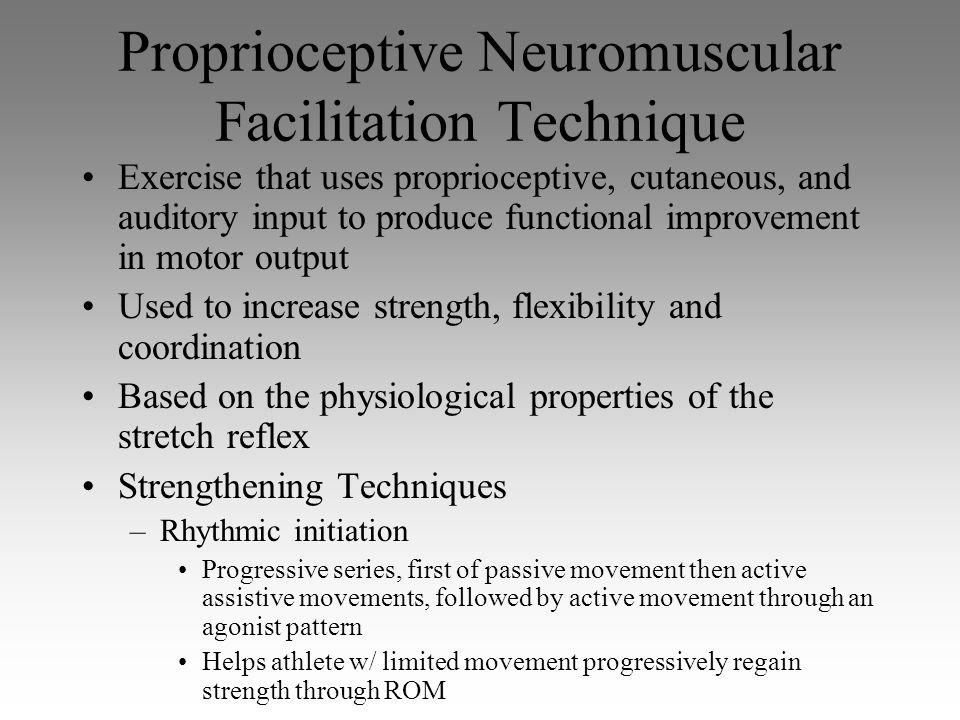 Proprioceptive Neuromuscular Facilitation Technique