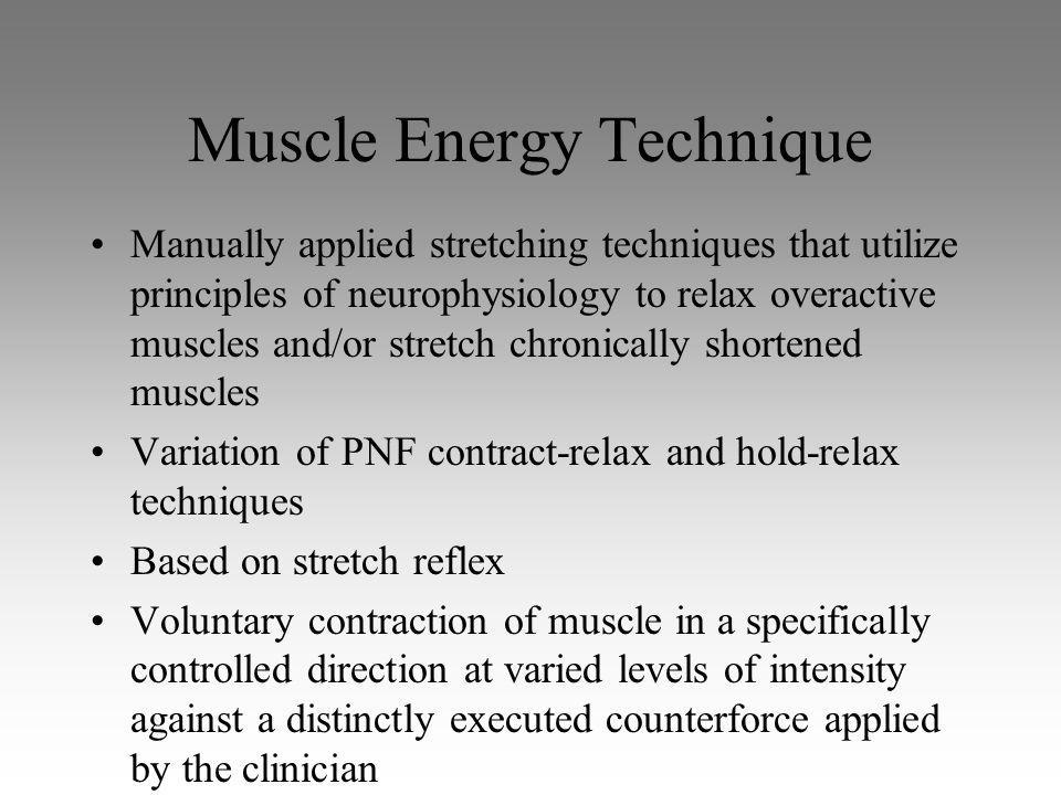 Muscle Energy Technique