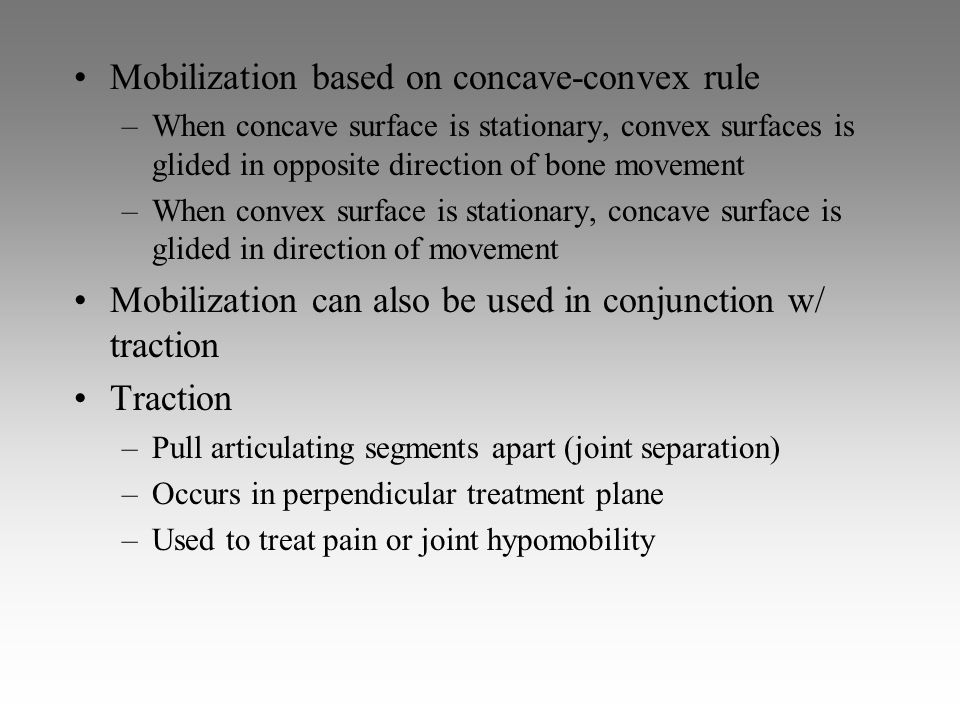 Mobilization based on concave-convex rule