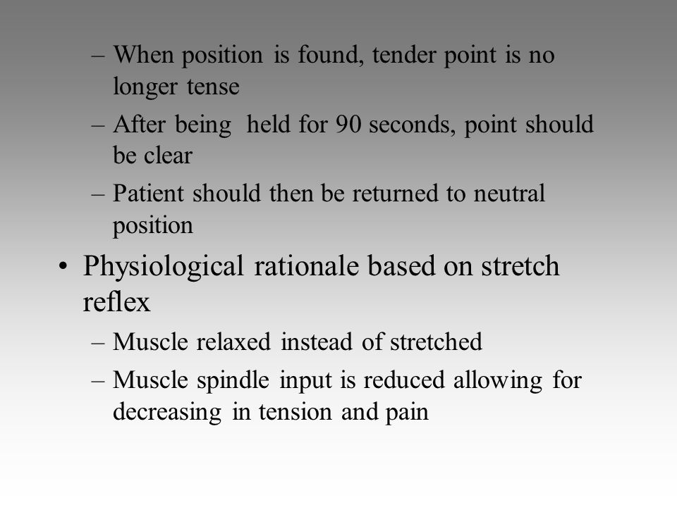 Physiological rationale based on stretch reflex