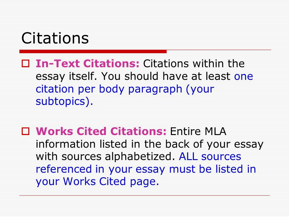 Examples of MLA Citations in an Essay