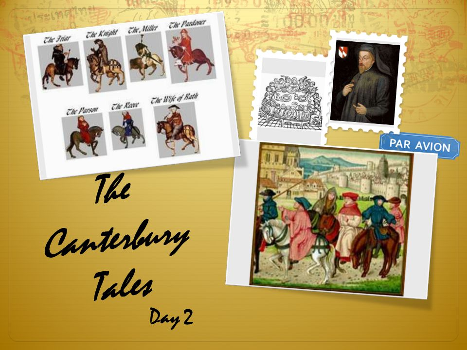 canterbury tales character comparison essay