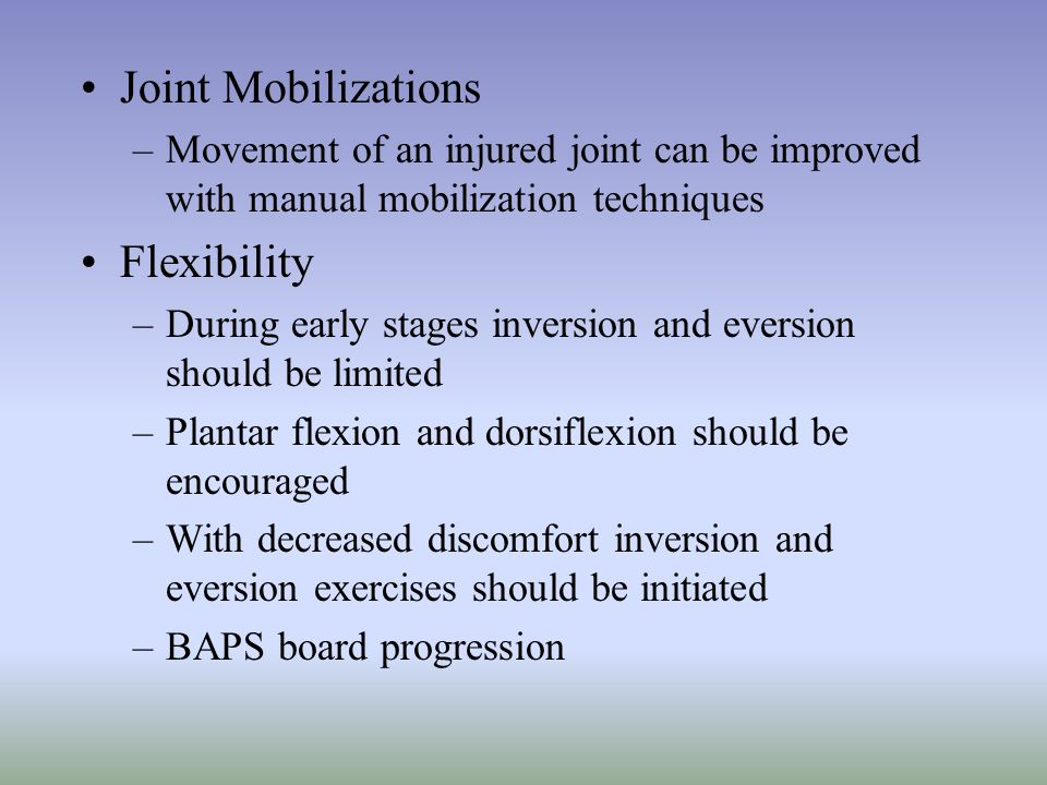 Joint Mobilizations Flexibility