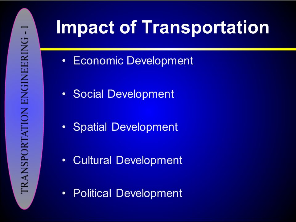 impact of ec on transport Following headings: transport impact user characteristics demographics nature of area served complementary transport policies and complementary economic and regeneration policies.