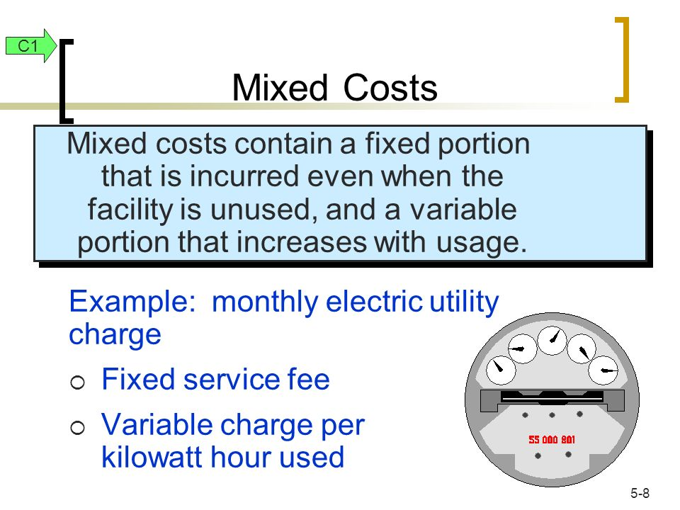 Mixed Costs C1.