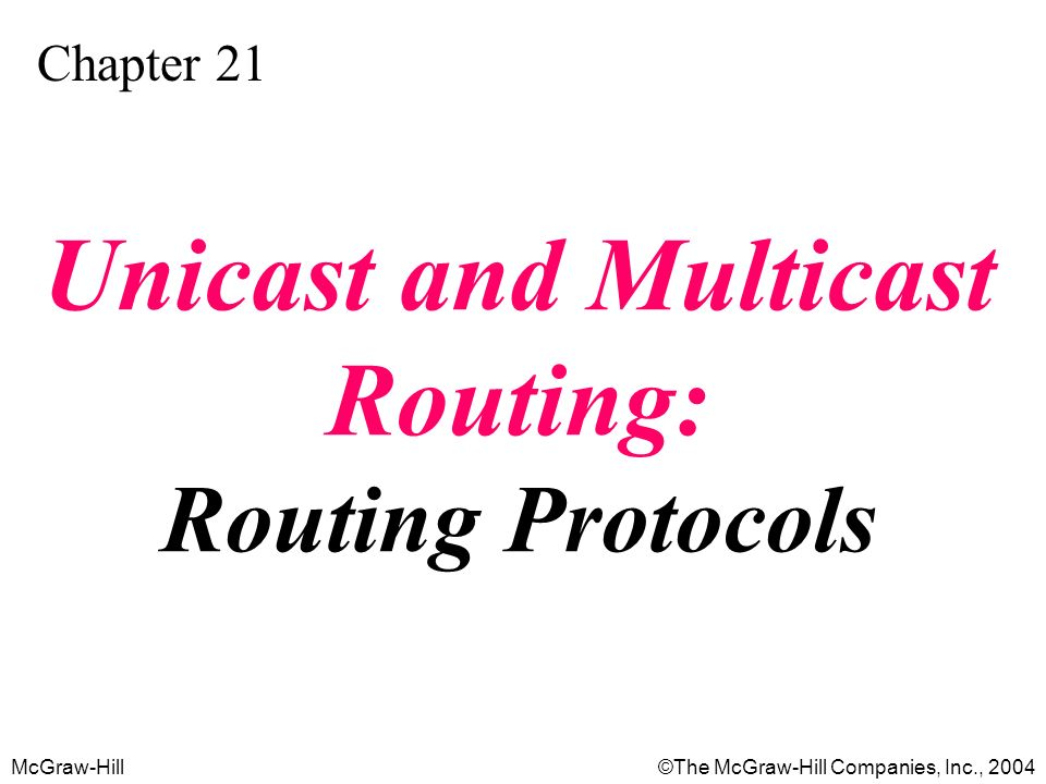 Unicast and Multicast Routing: