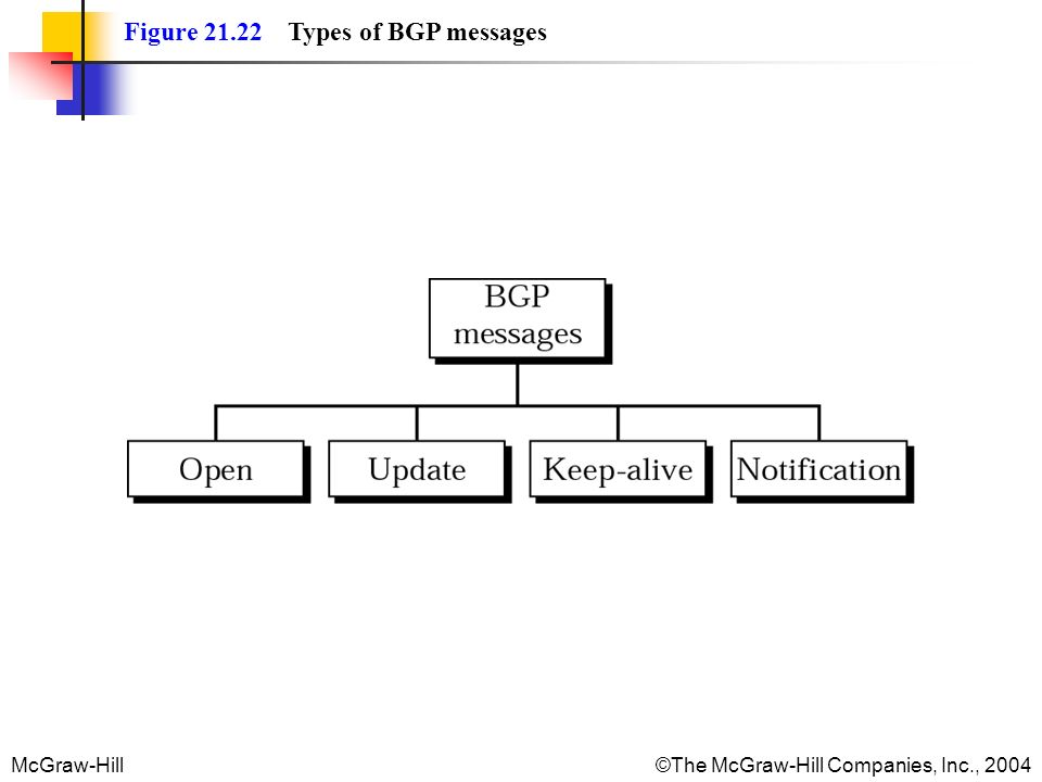 Figure 21.22 Types of BGP messages