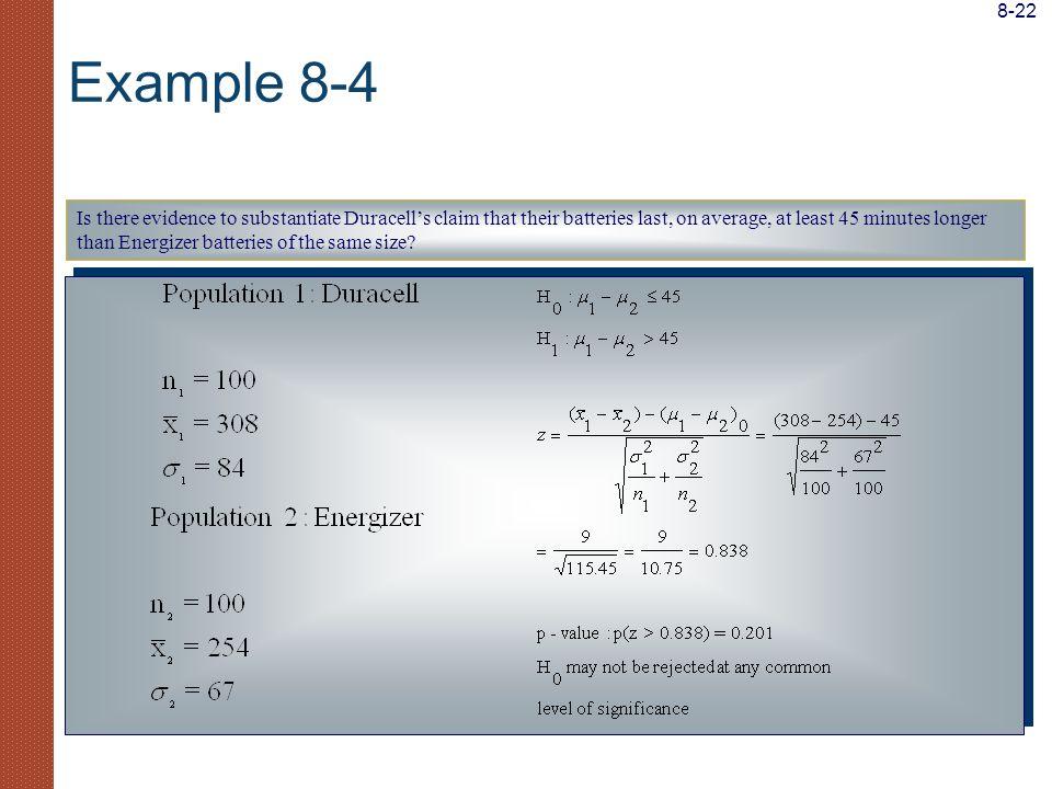 8-22 Example 8-4.