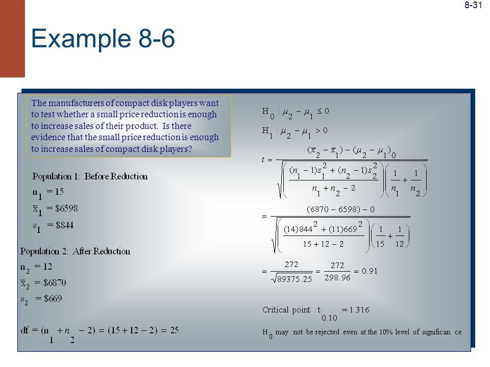 8-31 Example 8-6.