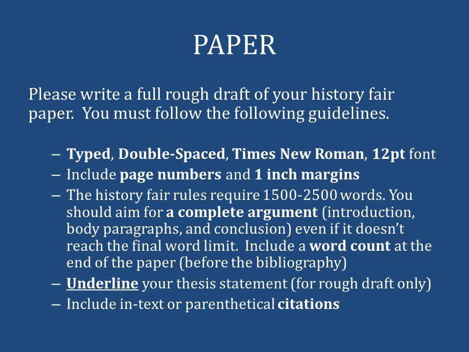 rough draft of your final paper See the links under organizing information for lots of articles on outlining and other ways to organize your paper 63 write the rough draft visit the owls here's where the online writing labs excel there are many dozens of great articles on every aspect of writing your paper.