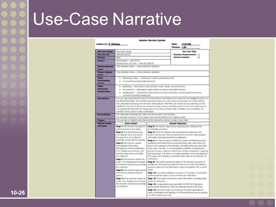Use-Case Narrative